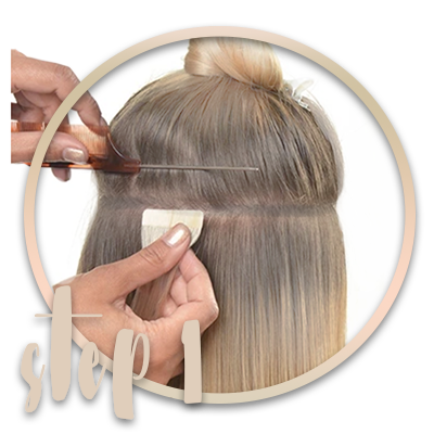 How to apply tape-in  extensions