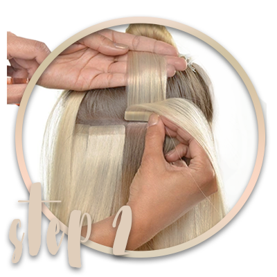 how to apply Tape-in Hair-extensions
