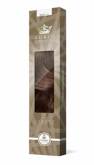 PRO-DELUXE LINE Chestnut Flash Brown Clip-in Remy Hair Extensions USA