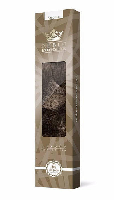 PRO-DELUXE LINE Chocolate Roast Brown Clip-in Hair Extensions