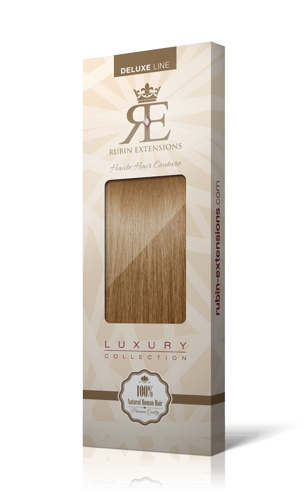 DELUXE LINE Salty Caramel Clip-in Hair Extensions