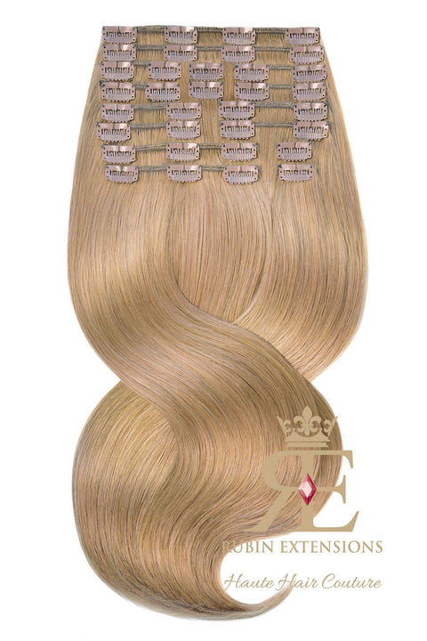 PRO-DELUXE LINE Salty Caramel Clip-in Human Hair Extensions USA