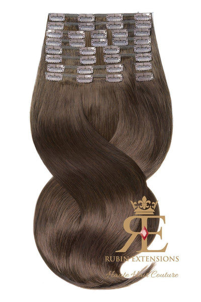 Chestnut Flash Brown Clip-in Hair Extensions Deluxe Line