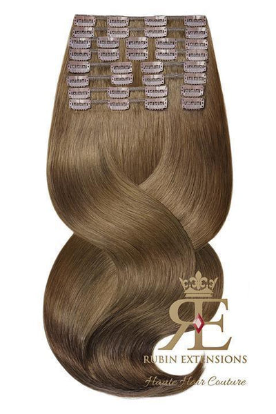 100% Remy Light Natural Brown Clip-in Hair Extensions