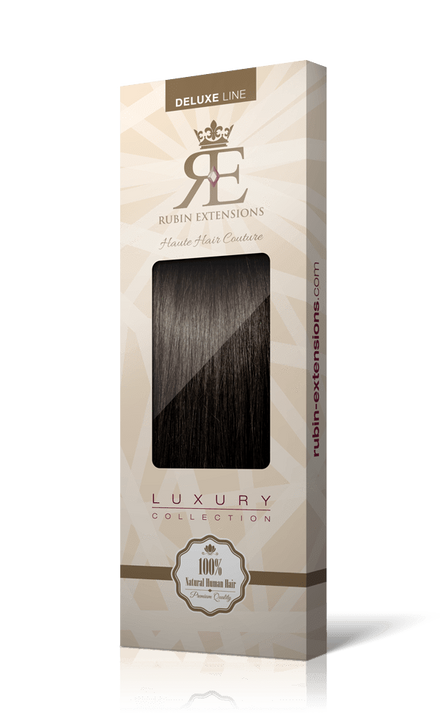 DELUXE LINE Espresso Black Clip-in Hair Extensions