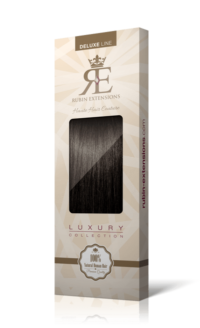 Deluxe Chocolate Roast Brown Clip-in Hair Extensions