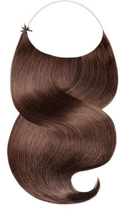 RUBIN LINE Medium Copper Brown Flip-in Hair Extensions