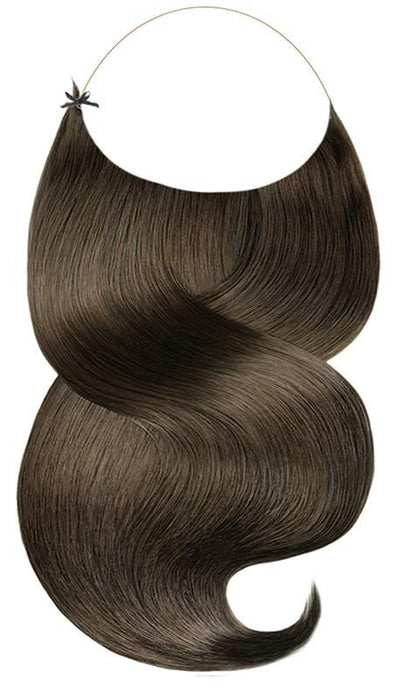 RUBIN LINE Chocolate Roast Brown Flip-in Hair Extensions