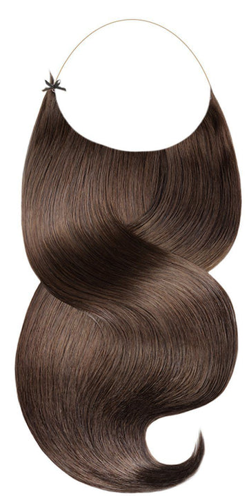 halo chestnut brown hair extensions
