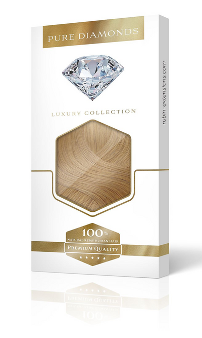 PURE DIAMONDS LINE Salty Caramel Clip-in Human Hair Extensions USA
