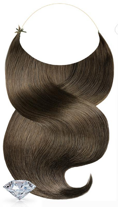 PURE DIAMONDS LINE Light Natural Brown Flip-in Hair Extensions USA