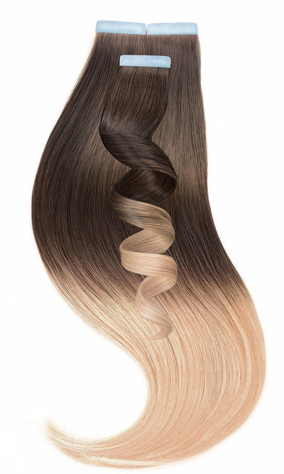 PRO DELUXE LINE OMBRÉ Chestnut Flash Brown & Honey Blonde Tape-in Hair Extensions