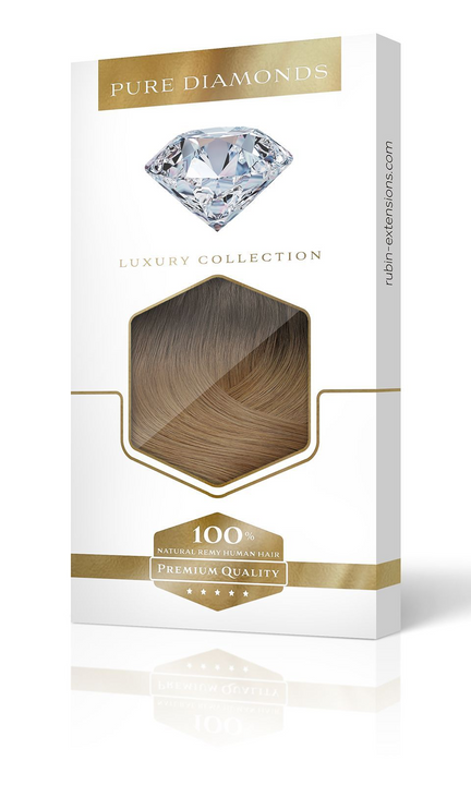 PURE DIAMONDS LINE Rich Chocolate Remy Clip-in Hair Extensions