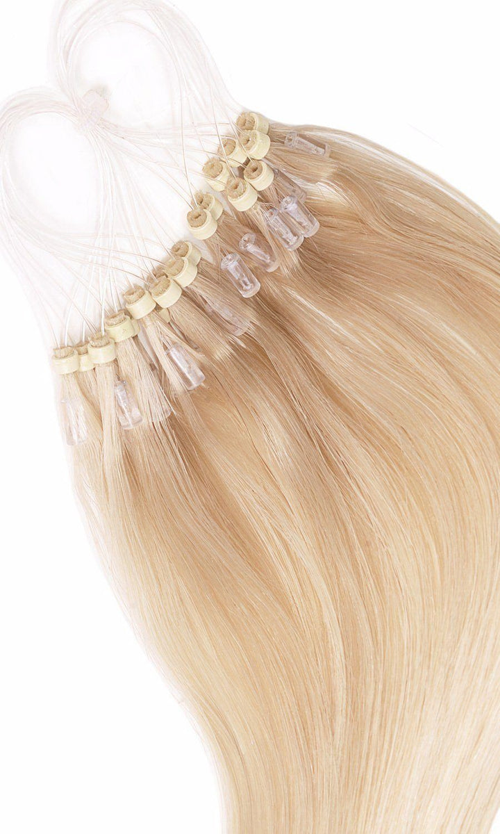 Rubin Extensions Honey Blonde Microring Hair Extensions