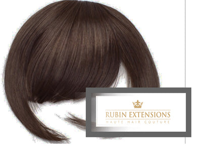 Clip-in FRINGE Chestnut Flash Brown Hair Extensions