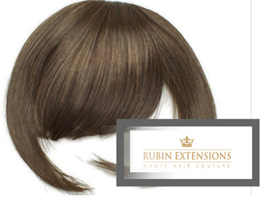 Clip-in FRINGE Light Natural Brown Hair Extensions