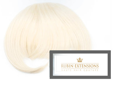 Clip-in FRINGE Pearl Blond Hair Extensions