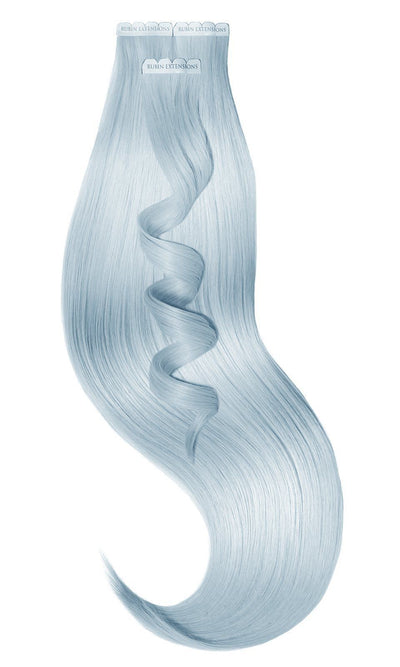 PRO DELUXE LINE PASTEL Baby Blue Pastel Tape-in Hair Extensions