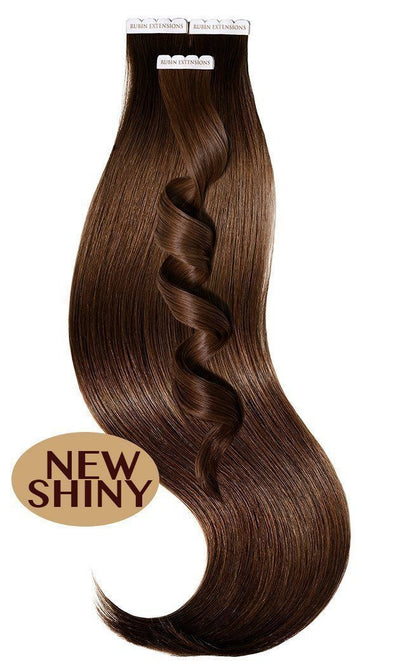 Rubin Extensions USA Tape-in Human Hair Extensions - Chestnut Flash Brown