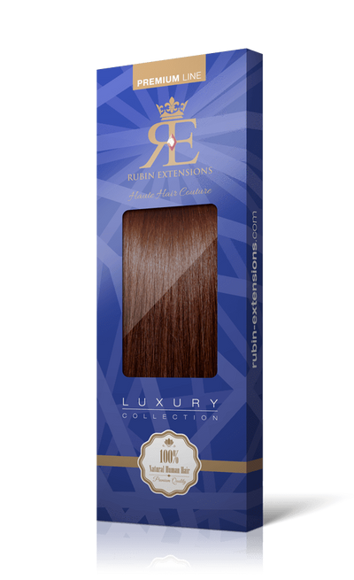 PREMIUM LINE Medium Copper Brown Tape-in Human Hair Extensions