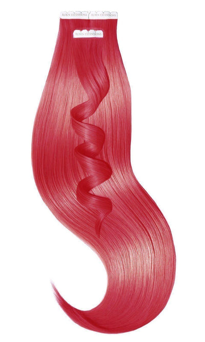 PRO DELUXE LINE Ruby Red Tape-in Human Hair Extensions