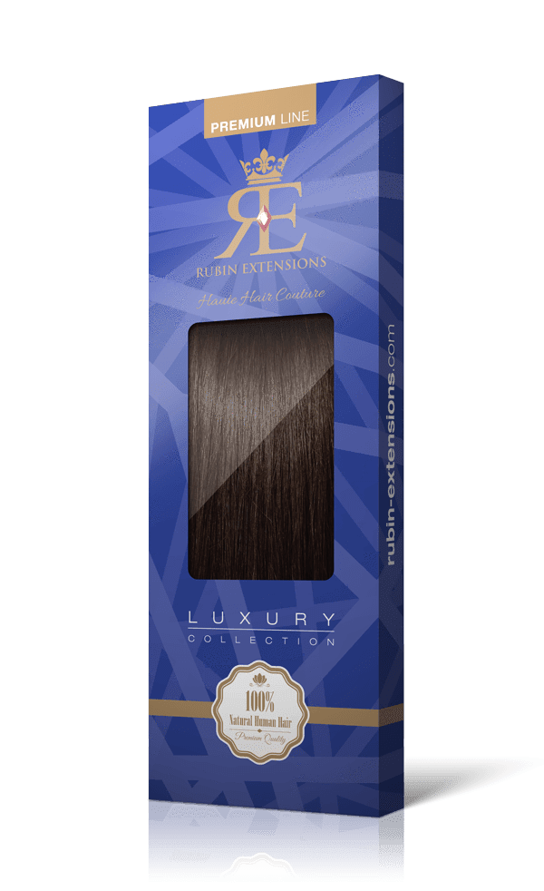 PREMIUM LINE Chocolate Roast Brown Tape-in Hair Extensions