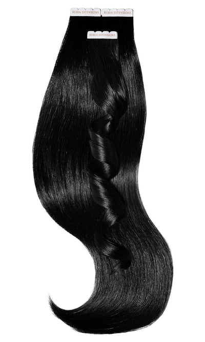 Rubin Extensions Human Hair Tape-in Extensions - Jet Black