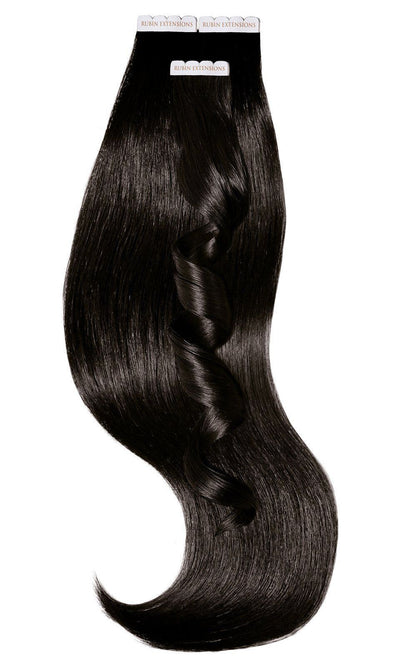 PRO DELUXE LINE Espresso Black Tape-in Hair Extensions from Rubin Extensions USA