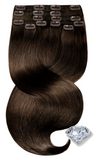 PURE DIAMONDS LINE Chocolate Roast Brown Clip-in Human Hair Extensions