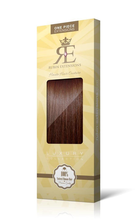 RUBIN LINE Medium Copper Brown One Piece Hair Extensions