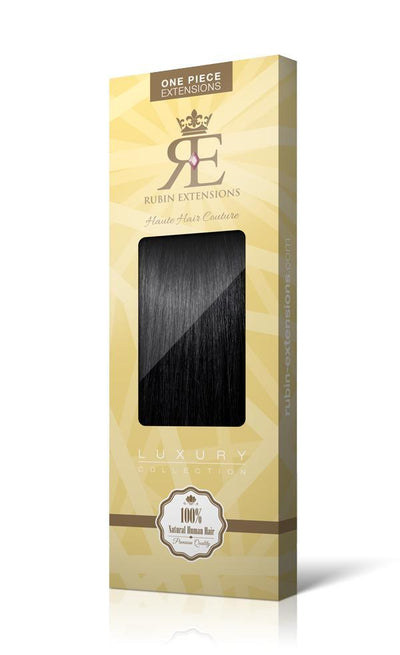 RUBIN LINE Jet Black One Piece Hair Extensions