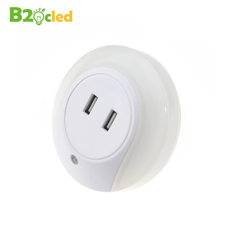 Simple USB CHARGER 2 PORTS WITH NIGHT LIGHT SENSOR Ideas - Cool led light sensor Review