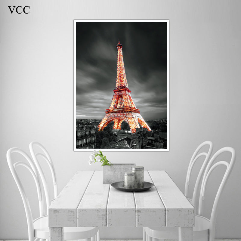Paris eiffel tower picture canvas artpaintings on the wall art canvas painting poster