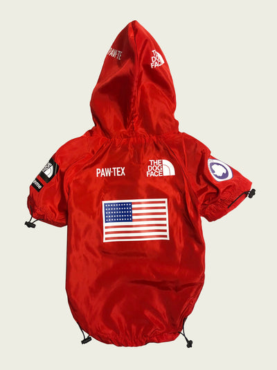 <h4>Pupreme Expawdition Windbreaker Red</h4>