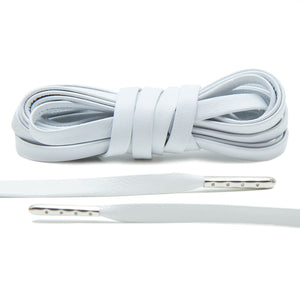 Leather Shoelaces- White