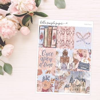 Fairytale | Weekly Kit - Erin Condren Vertical Stickers