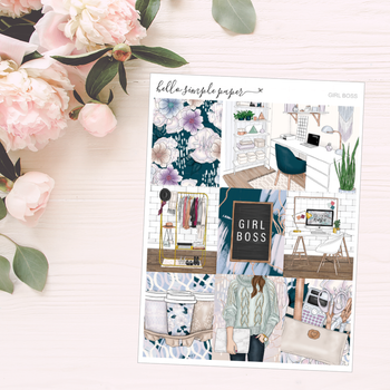 Girl Boss | Weekly Kit - Erin Condren Vertical Stickers