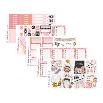 Goal Getter | Weekly Kit - Erin Condren Vertical Stickers