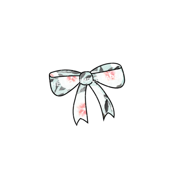 Bloom & Grow | DIGITAL Bow Aqua Floral