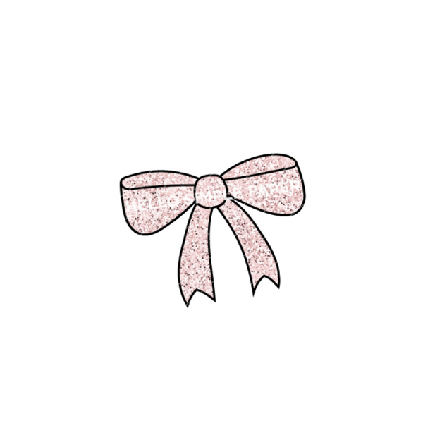 Bloom & Grow | DIGITAL Bow Pink Glitter