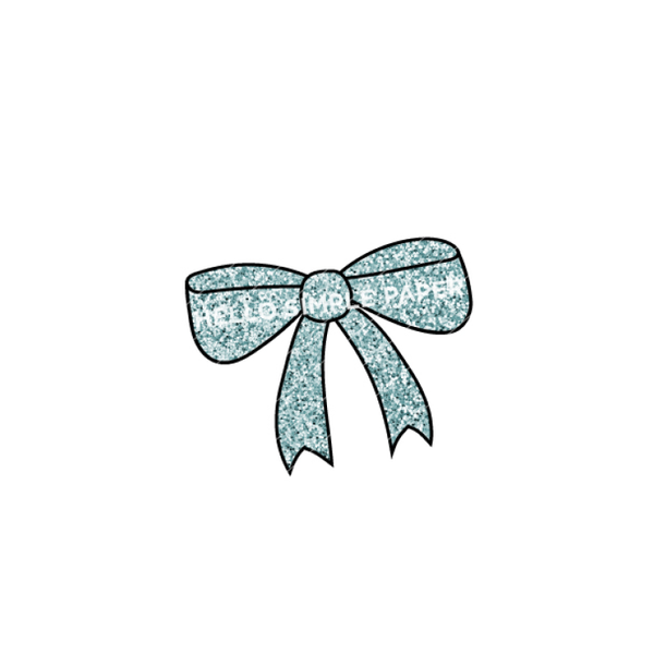 Bloom & Grow | DIGITAL Bow Aqua Glitter