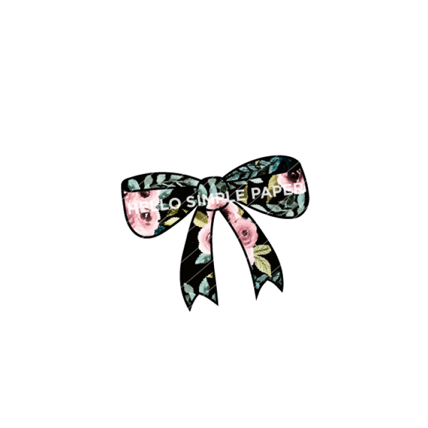 Bloom & Grow | DIGITAL Bow Black Floral