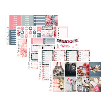 Love is in the Air | Weekly Kit - Erin Condren Vertical Stickers
