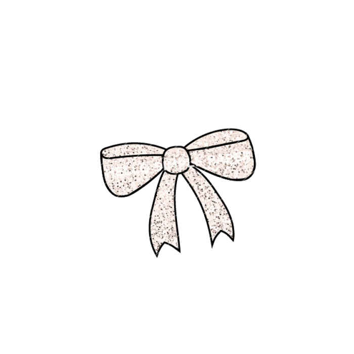 Sun, Moon, & Stars | DIGITAL Bow Peach Glitter