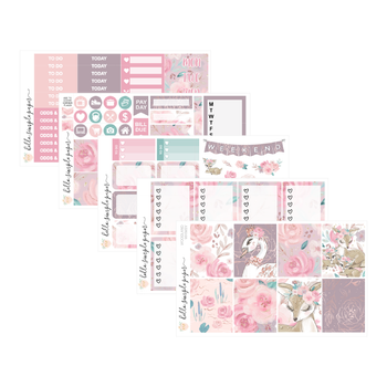 Woodland Whimsy | Weekly Kit - Erin Condren Vertical Stickers