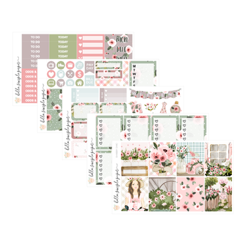 Shabby Chic | Weekly Kit - Erin Condren Vertical Stickers