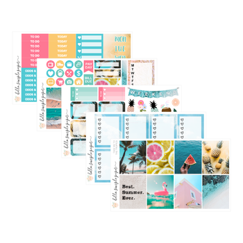 Take me to the Tropics | Weekly Kit - Erin Condren Vertical Stickers