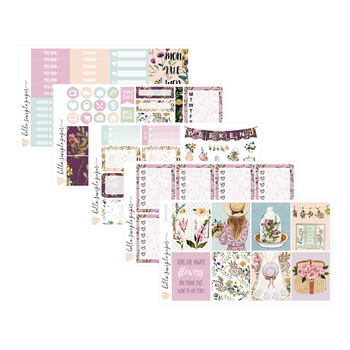 Provence | Weekly Kit - Erin Condren Vertical Stickers