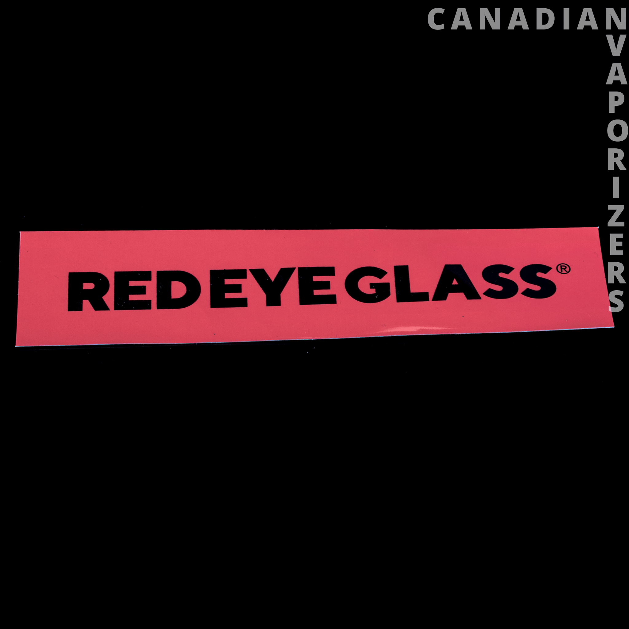Red Eye Glass Sticker