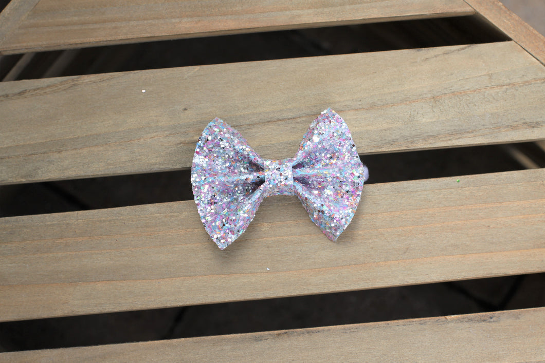 Althea - unicorn tears glitter, multi colored pastel glitter, baby shower gift, baby gift, baby accessories, toddler accessories, unicorn lovers bow, gray glitter bow